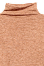 Fine-knit turtleneck jumper - Beige marl - Ladies | H&M GB 3