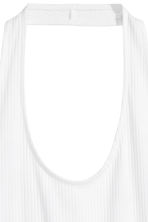 Ribbed halterneck top - White - Ladies | H&M CN 2