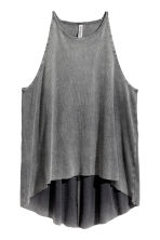 Ribbed top - Dark grey - Ladies | H&M CN 2