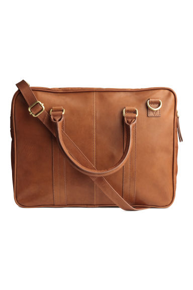 Leather shoulder bag - Cognac brown -  | H&M 1