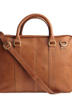 Leather shoulder bag - Cognac brown -  | H&M CN 3