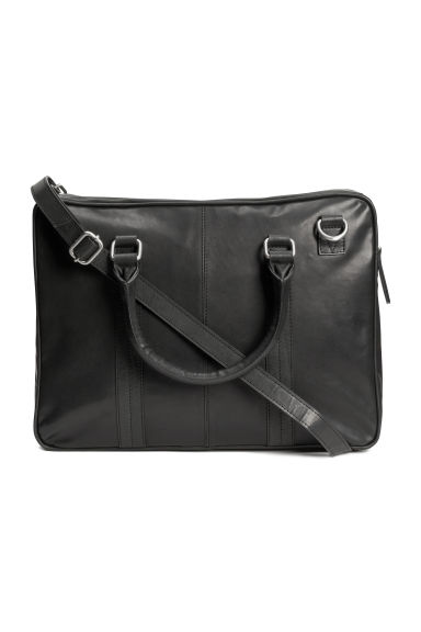 Leather shoulder bag - Black -  | H&M CN 1