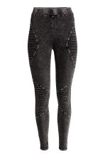 Biker leggings - Black washed out - Ladies | H&M CN 2