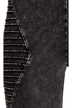Biker leggings - Black washed out - Ladies | H&M CN 3