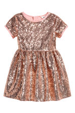 Sequined dress - Pink/Gold - Kids | H&M CN 2