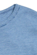 T-shirt with a chest pocket - Blue/Striped - Men | H&M CN 3
