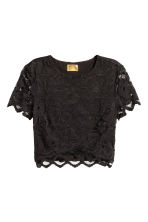 Lace crop top - Black - Ladies | H&M CN 2