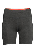 Short running tights - Dark grey marl - Ladies | H&M CN 2