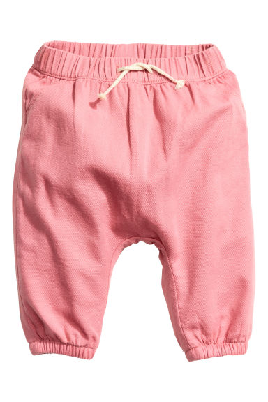 Lined cotton trousers - Pink - Kids | H&M CN 1