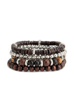 4-pack bracelets - Dark brown - Men | H&M 1