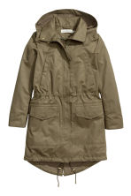 Parka with a hood - Khaki green - Ladies | H&M CN 2