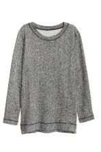 Sweatshirt with slits - Dark grey marl - Ladies | H&M CN 2