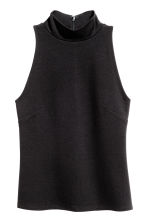 Sleeveless turtleneck top - Black - Ladies | H&M CN 2