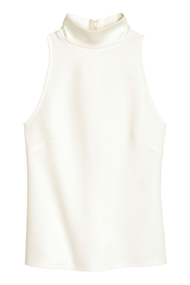 Top a lupetto senza maniche - Bianco - DONNA | H&M IT