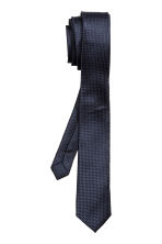 Textured tie - Dark blue - Men | H&M CN 2