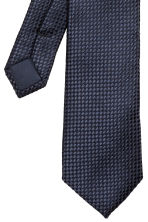 Textured tie - Dark blue - Men | H&M CN 3