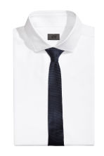 Textured tie - Dark blue - Men | H&M CN 1