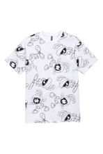 Printed T-shirt - White/Looney Tunes - Men | H&M CN 2
