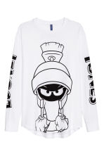 Printed long-sleeved T-shirt - White/Looney Tunes - Men | H&M CN 2