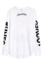 Printed long-sleeved T-shirt - White/Looney Tunes - Men | H&M CN 3