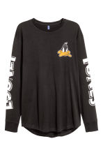 Printed long-sleeved T-shirt - Black/Looney Tunes - Men | H&M CN 2