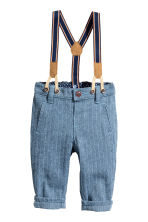 Trousers with braces - Blue - Kids | H&M CN 1