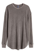 Waffle top - Dark brown - Men | H&M CN 2