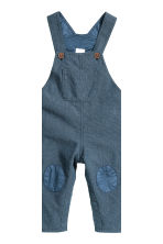 Dungarees and jersey top - Dark blue/White - Kids | H&M CN 2