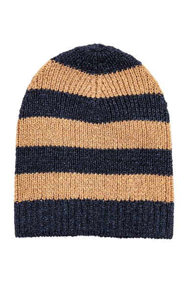 Glittery hat - Dark blue/Striped - Ladies | H&M CN 1