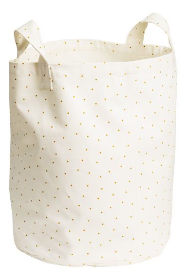 Spot-print storage basket - White/Spotted - Home All | H&M CN 1