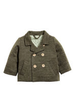 Wool-blend jacket - Khaki green marl -  | H&M CN 1