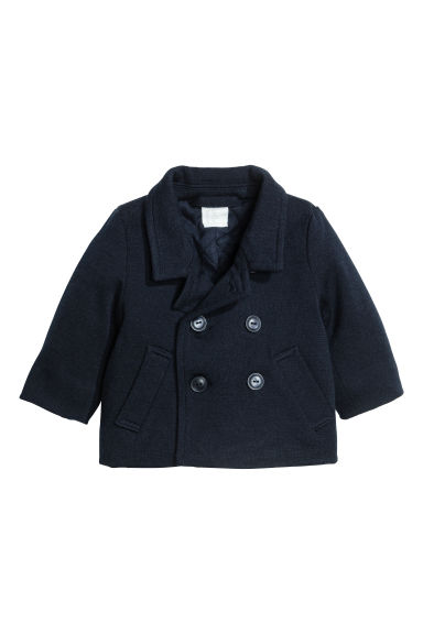 Wool-blend jacket - Dark blue -  | H&M CA 1
