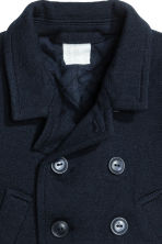Wool-blend jacket - Dark blue -  | H&M CA 2