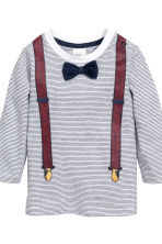 Top and trousers - White/Dark blue - Kids | H&M CN 4