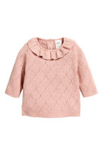 Fine-knit jumper - Powder pink - Kids | H&M CN 1