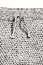 Moss-stitch knitted trousers - Grey marl - Kids | H&M CN 2