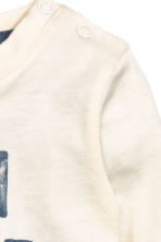 Long-sleeved T-shirt - Natural white - Kids | H&M CN 2