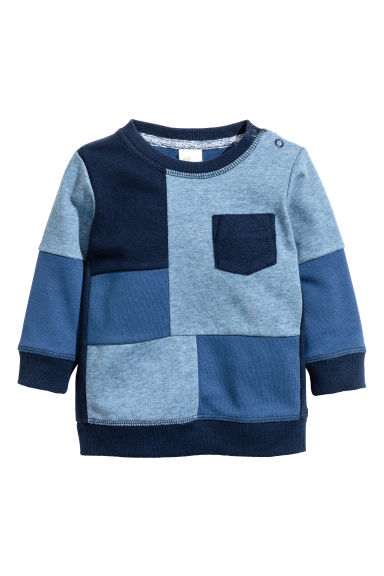 Block-coloured sweatshirt - Blue - Kids | H&M CN