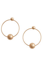 Round earrings - Gold - Ladies | H&M GB 1