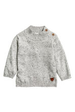 Fine-knit jumper - Grey marl - Kids | H&M CN 1