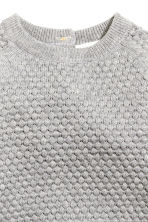 Moss-stitch jumper - Grey marl -  | H&M CN 2