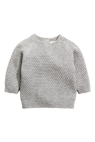 Moss-stitch jumper Model