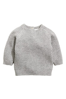 Moss-stitch jumper