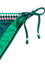 Tie tanga bikini bottoms - Emerald green - Ladies | H&M CN 3