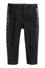 Pantaloni con bande in satin - Nero - BAMBINO | H&M IT 2