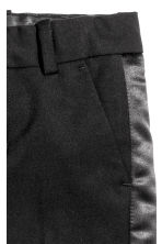 Pantaloni con bande in satin - Nero - BAMBINO | H&M IT 3