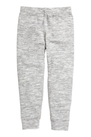 Wool jersey trousers - Grey marl - Kids | H&M CN 1