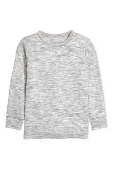 Long-sleeved wool top