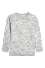 Long-sleeved wool top - Grey marl - Kids | H&M CN 1