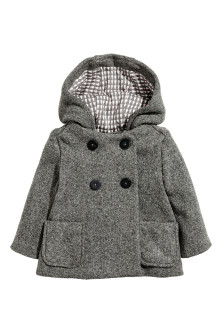 Flared coat with a hood
